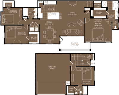 1,910 sq. ft. Tokyo floor plan