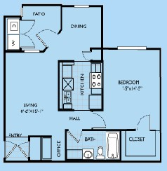 734 sq. ft. Madeline floor plan