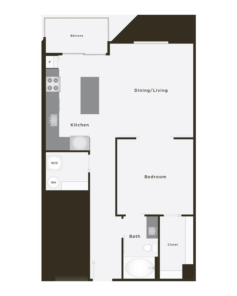 842 sq. ft. Jewel floor plan