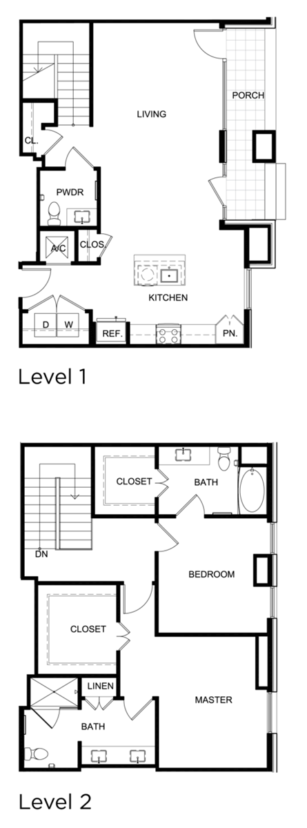 1,605 sq. ft. C7 floor plan