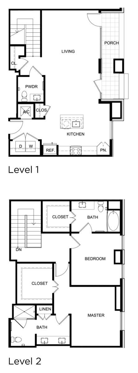 1,605 sq. ft. C7 floor plan