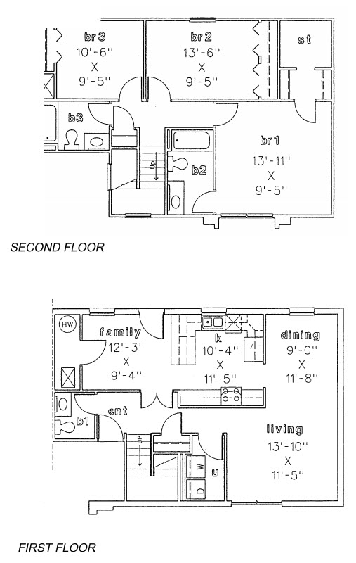 1,433 sq. ft. to 1,688 sq. ft. floor plan