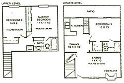 1,315 sq. ft. Oak floor plan