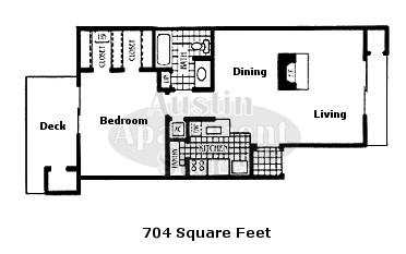 704 sq. ft. 50% floor plan