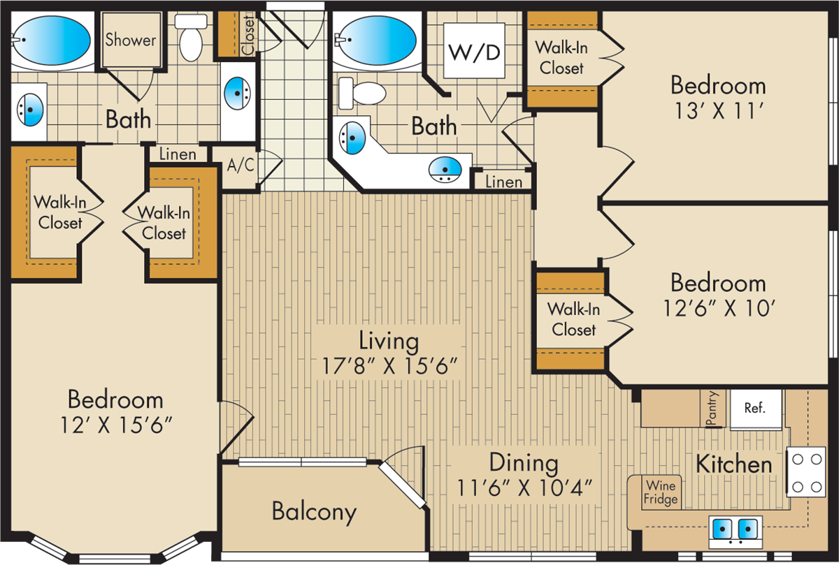 1,473 sq. ft. G floor plan