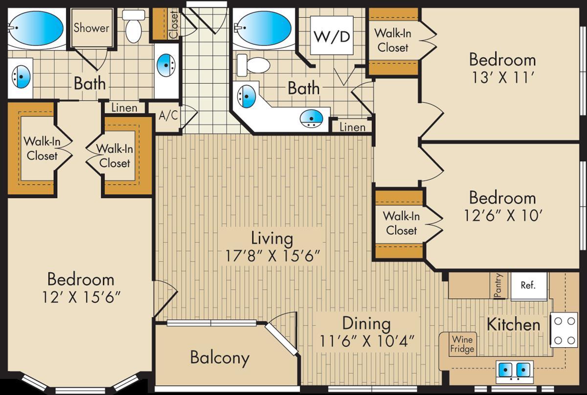 1,473 sq. ft. G floor plan