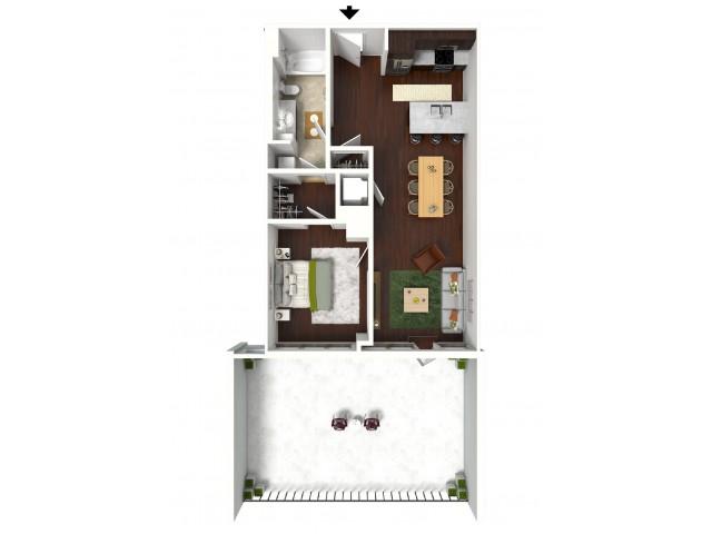 744 sq. ft. Signature Suite floor plan