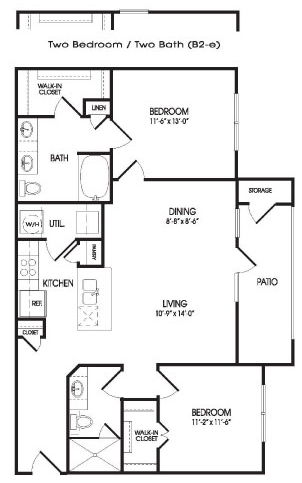 1,065 sq. ft. Sutton floor plan
