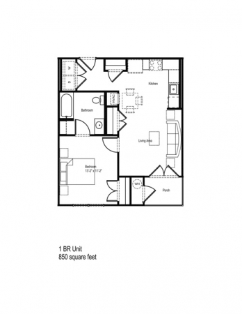 635 sq. ft. 30% floor plan