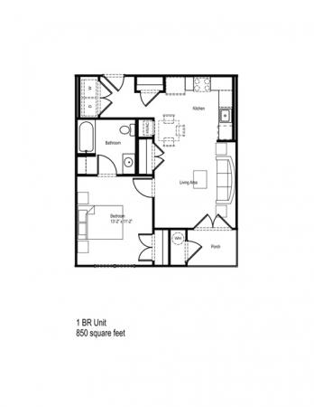 635 sq. ft. 30% floor plan