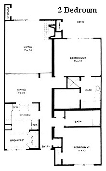 1,187 sq. ft. Colonial floor plan
