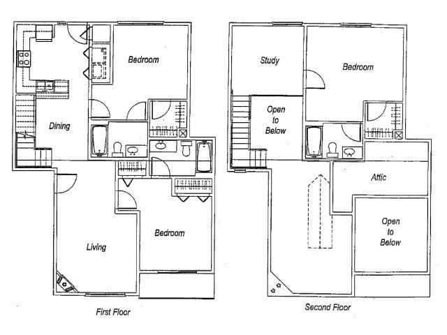 1,658 sq. ft. C3 floor plan