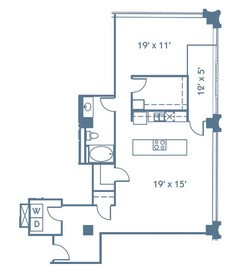 1,129 sq. ft. A12 floor plan