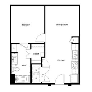 604 sq. ft. floor plan