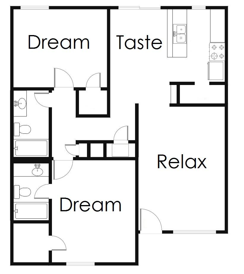 1,016 sq. ft. B3 floor plan