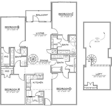 1,928 sq. ft. floor plan