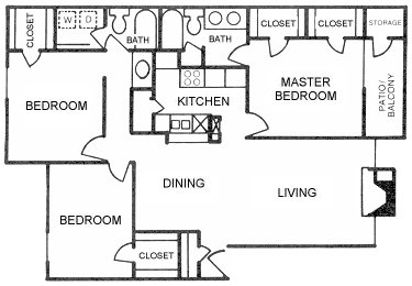 1,389 sq. ft. to 1,392 sq. ft. floor plan