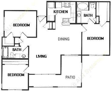 1,268 sq. ft. F floor plan