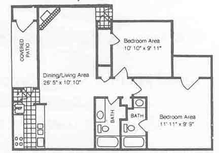 862 sq. ft. B4/50% floor plan