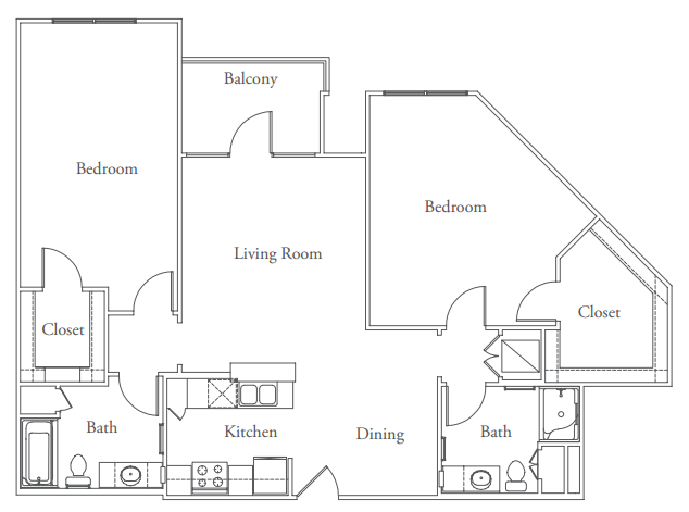 1,252 sq. ft. Windsor floor plan