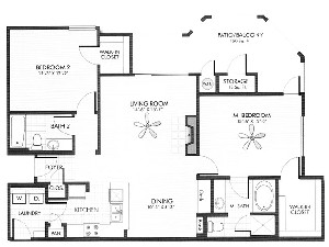 1,181 sq. ft. Granite floor plan