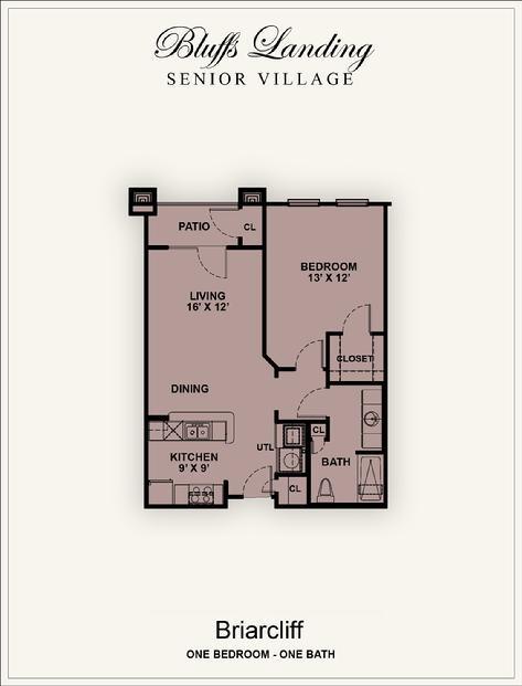 727 sq. ft. 50% floor plan