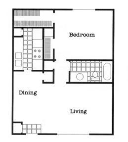 742 sq. ft. A2/60 floor plan