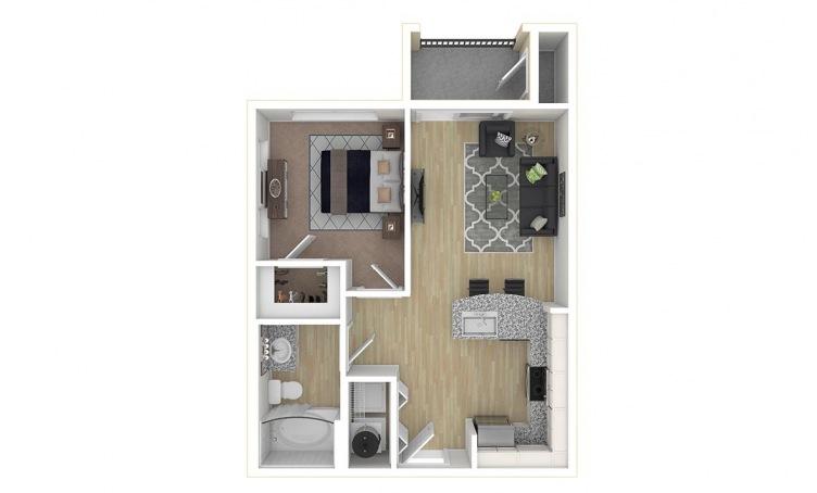 525 sq. ft. A1.1 floor plan