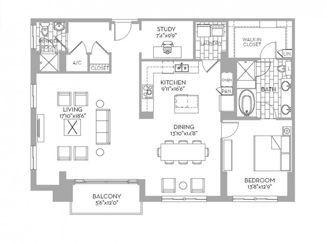 1,533 sq. ft. Preston(A.13) floor plan