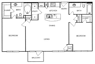 1,056 sq. ft. Royal floor plan