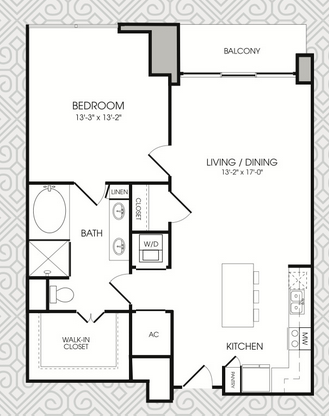 955 sq. ft. to 957 sq. ft. A9 floor plan