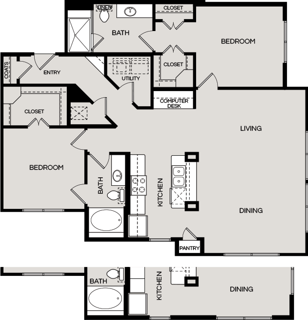 1,374 sq. ft. B4B floor plan