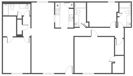1,387 sq. ft. to 1,427 sq. ft. C1 floor plan