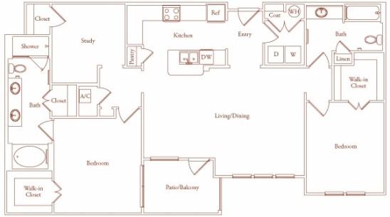 1,473 sq. ft. Segovia One floor plan