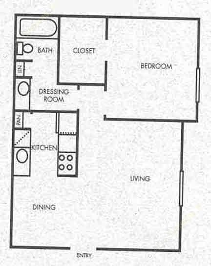 574 sq. ft. A3 floor plan