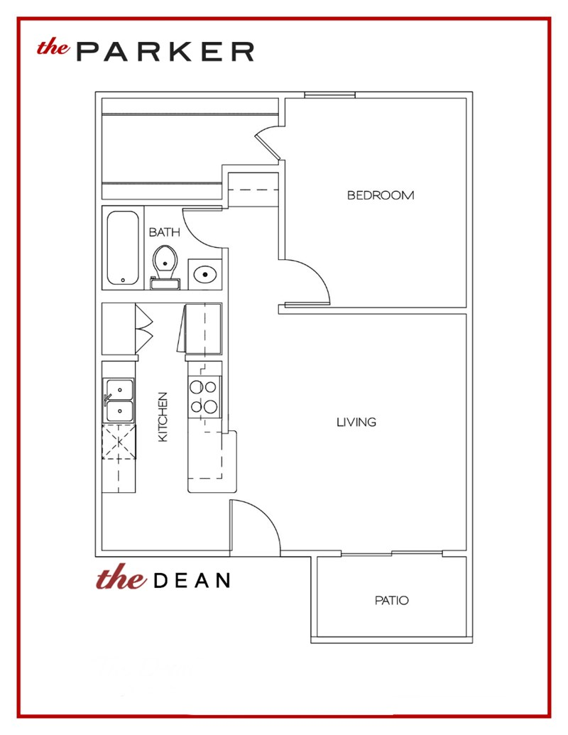598 sq. ft. Dean floor plan