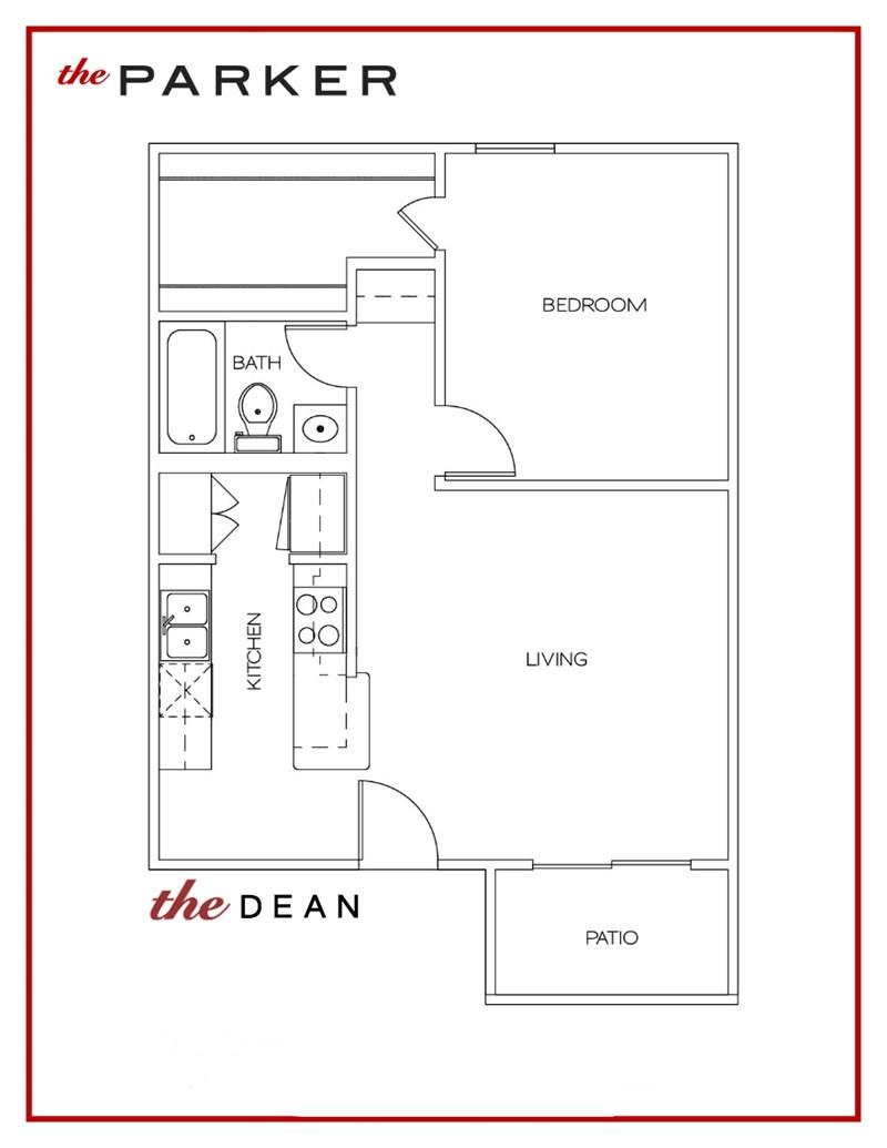 598 sq. ft. Dean floor plan