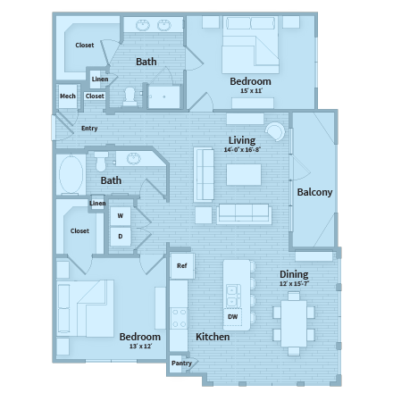 1,312 sq. ft. floor plan