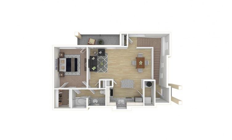 852 sq. ft. A3.3 floor plan