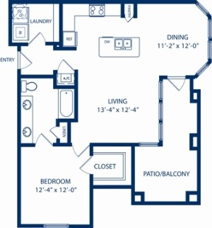 867 sq. ft. Cypress floor plan