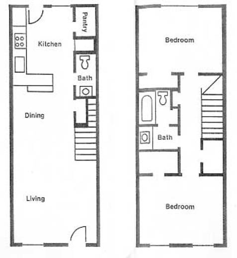 1,026 sq. ft. B3 floor plan