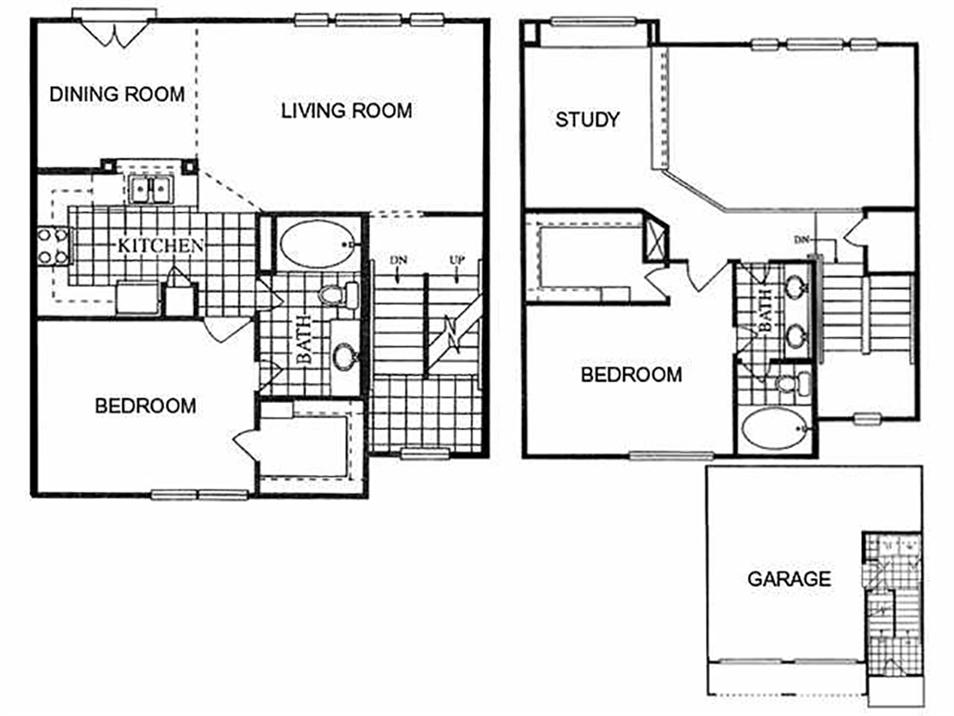 1,380 sq. ft. Weslayan/I floor plan
