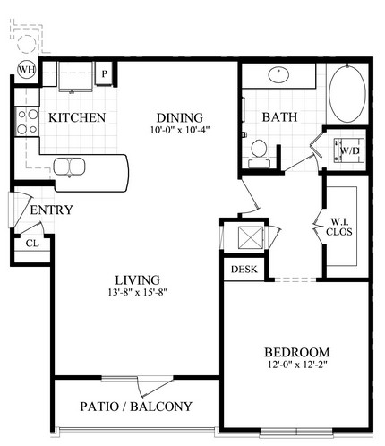 819 sq. ft. B floor plan