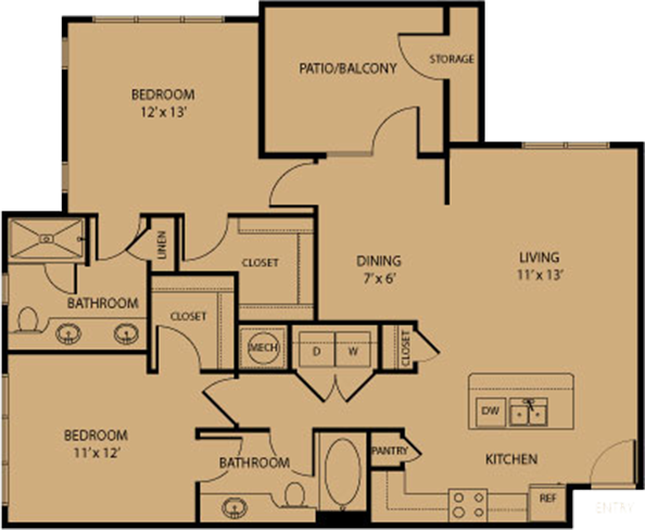 1,151 sq. ft. Comfort floor plan