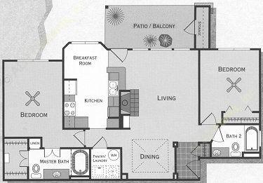 1,146 sq. ft. Colorado/B2 floor plan