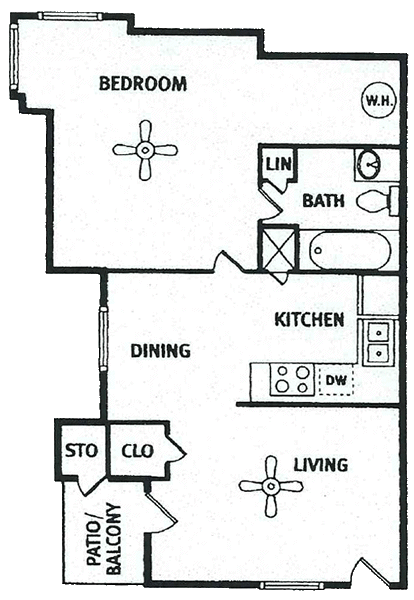 596 sq. ft. floor plan