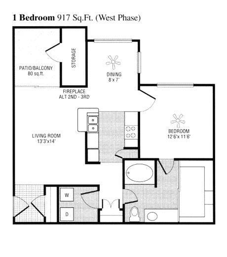 837 sq. ft. to 917 sq. ft. D floor plan