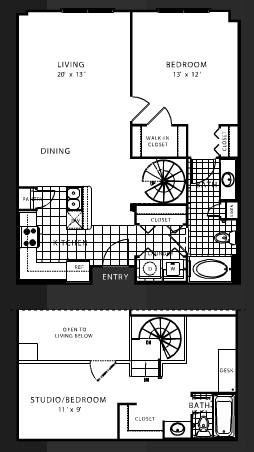 1,112 sq. ft. B6 floor plan