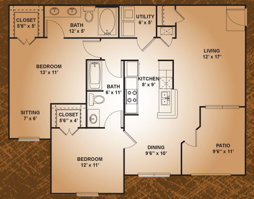 1,088 sq. ft. House Sparrow floor plan