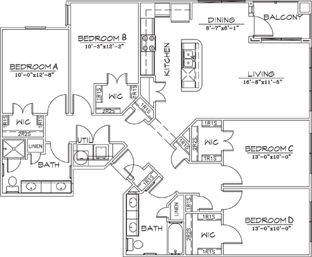 1,516 sq. ft. floor plan
